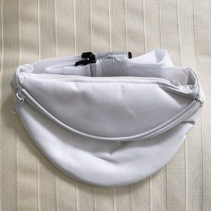 White 2-Pocket Fanny Pack